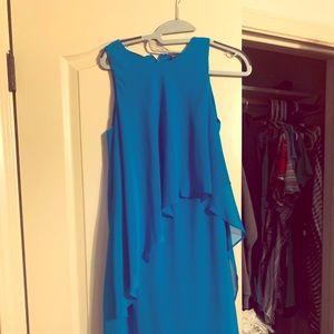 Lauren by RL NWT beautiful sea blue layered dress!